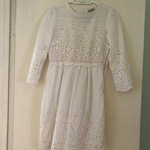 Sabo Skirt white eyelet dress